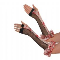 Freakshow Circus Adult Halloween Fingerless Gloves